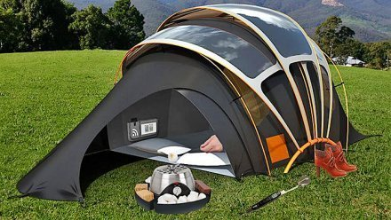 Solar Powered Tent and The Great Outdoors