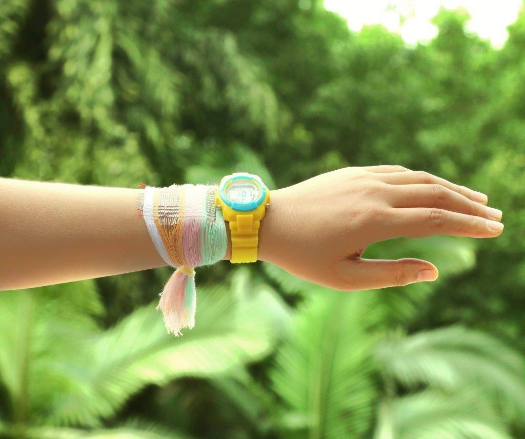 solar fabric bracelet