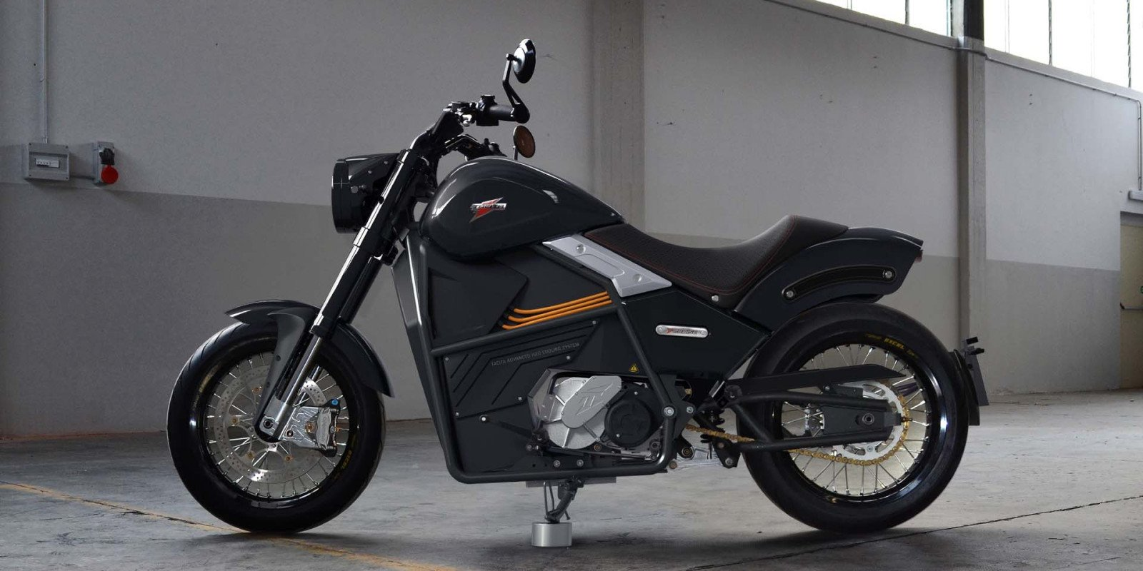 Tacita unveils 2020 cruiser electric motorcycle with manual gearbox for EU/US